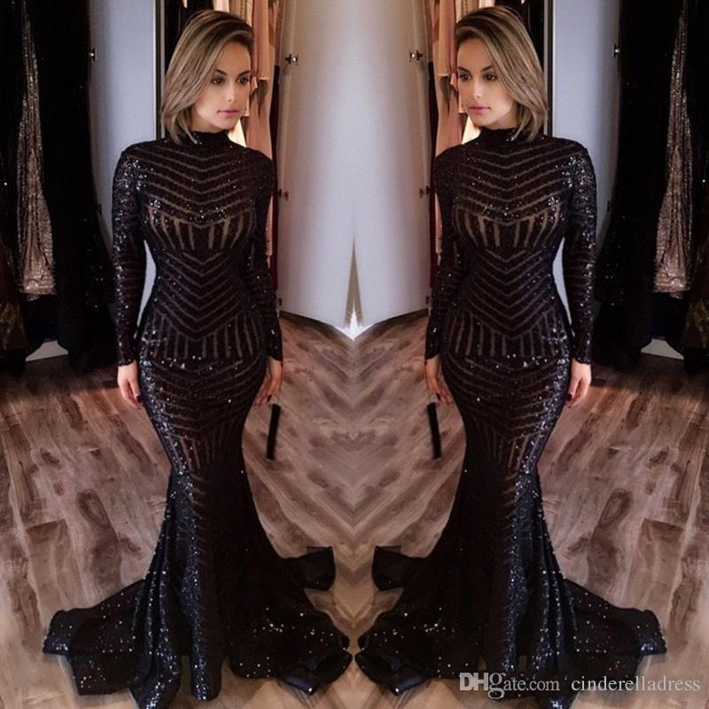 Michael Costello Mermaid Prom Dresses 2017 Elegant Black Women Long ...