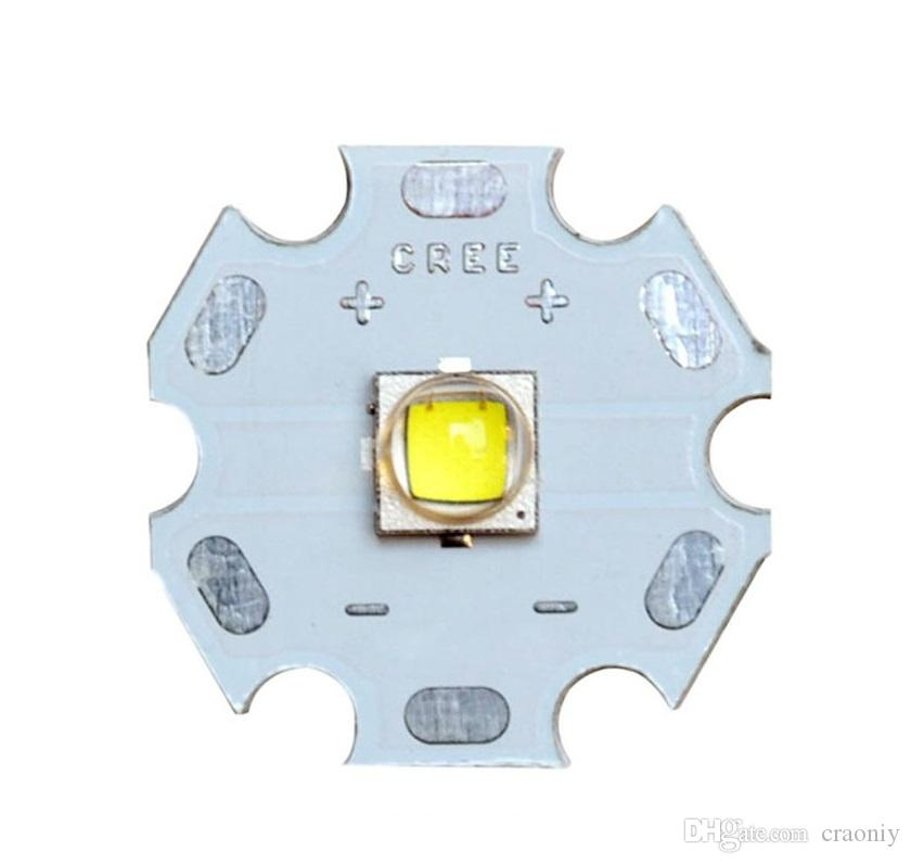 Flashlight Electronic DIY Parts Emitter Cree XM-L2 U2 1A White Light LED Star XML2 LED with 20mm Aluminum Base