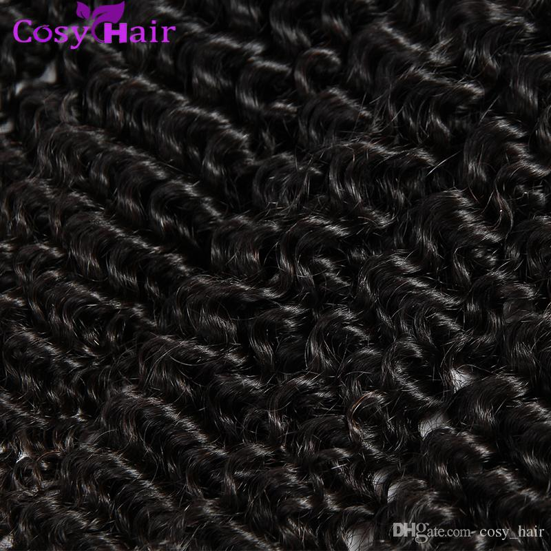 Jerry Curly Weave Virgin Brazilian Hair Unprocessed Human Hair Wefts Curly Virgin Hair Remy Human Weft Natural Black Dyeable