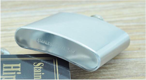 Poche en acier inoxydable 5oz hip fiole de poche de poche