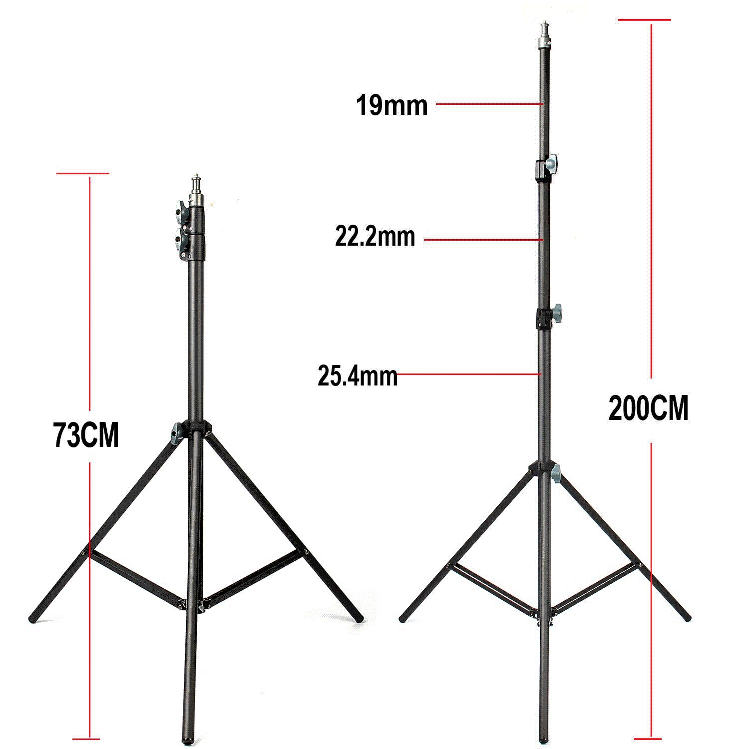 2019 FotoPal 2M Light Stand Tripod With 1/4 Screw Head