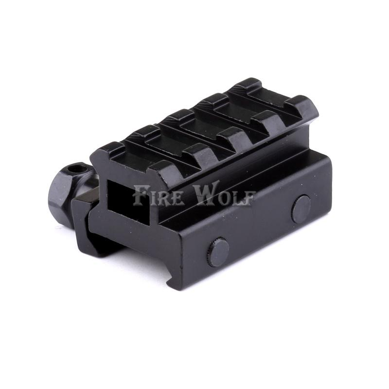 4Slot Low Riser 21mm/20mm Weaver Picatinny Rifle Short Side Rail Base Airsoft Paintball Riser Scope Mount
