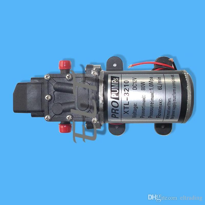 Bomba de agua de alta presión para lavadoras de automóviles, bomba de pulverización de agua DC 12V, bomba de lavado de automóviles de 80W 6L / min, bomba de diafragma eléctrica