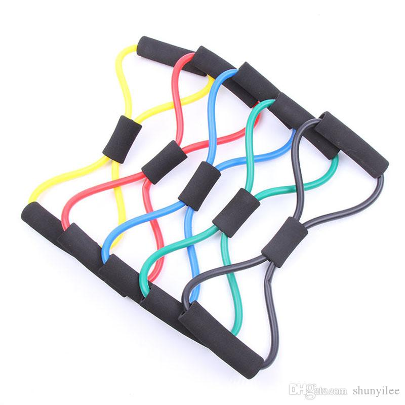 8 Shaped Training Resistance Bands Rope Tube Workout Exercise for Yoga Sports Body Fitness Equipment Tool ZA1944