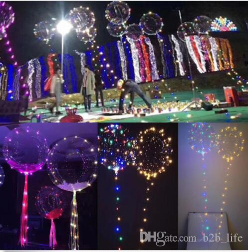 online cheap transparent balloon led light balloons wedding xmas