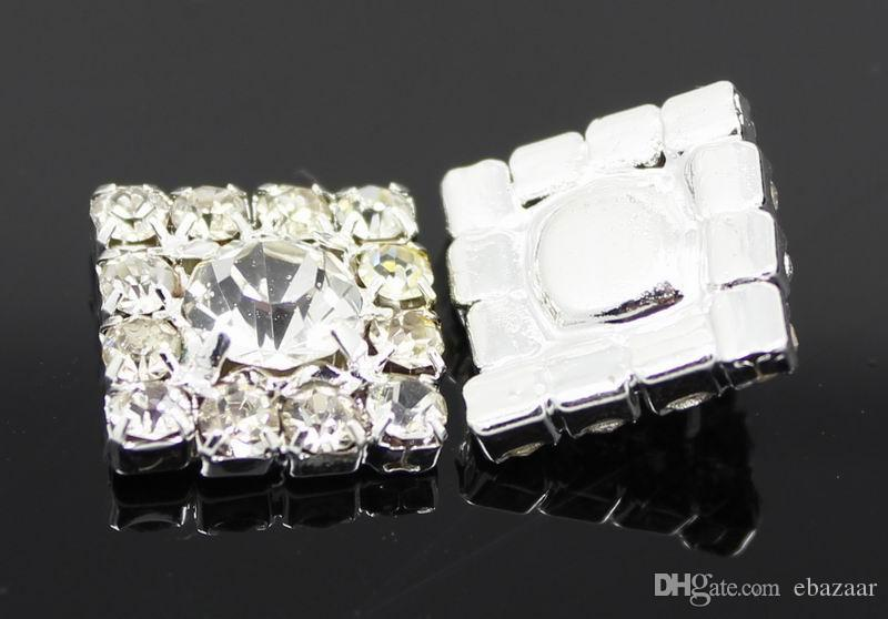 12*12mm Square Rhinestone Embellishment Button Flatback Clear Rhinestone DIY Accessories Wedding Decor