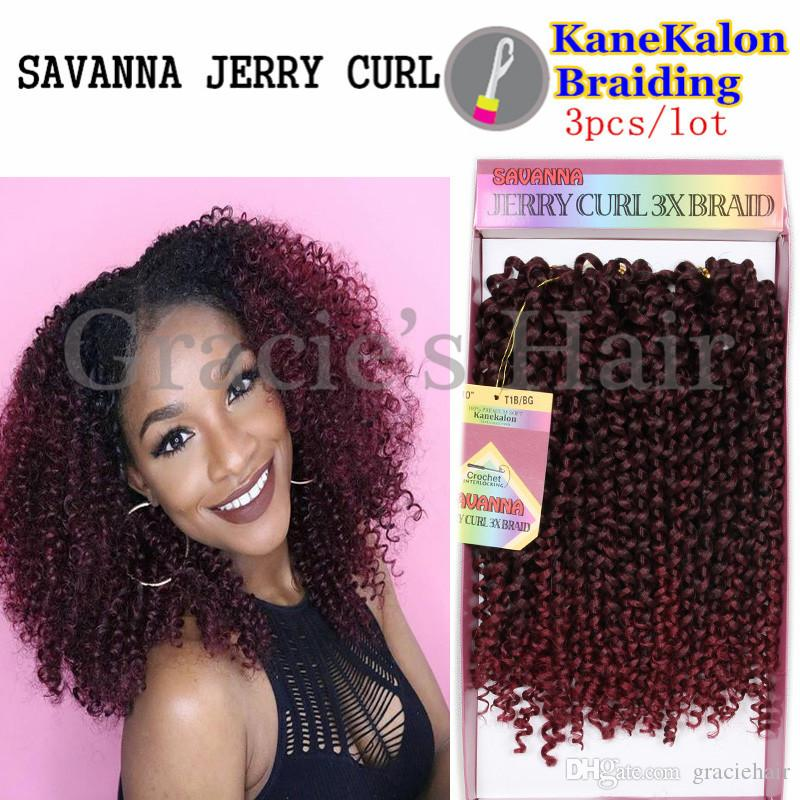 2019 2017 New Hairstyles Kanekalon Braid Jerry Curl Braids For Black