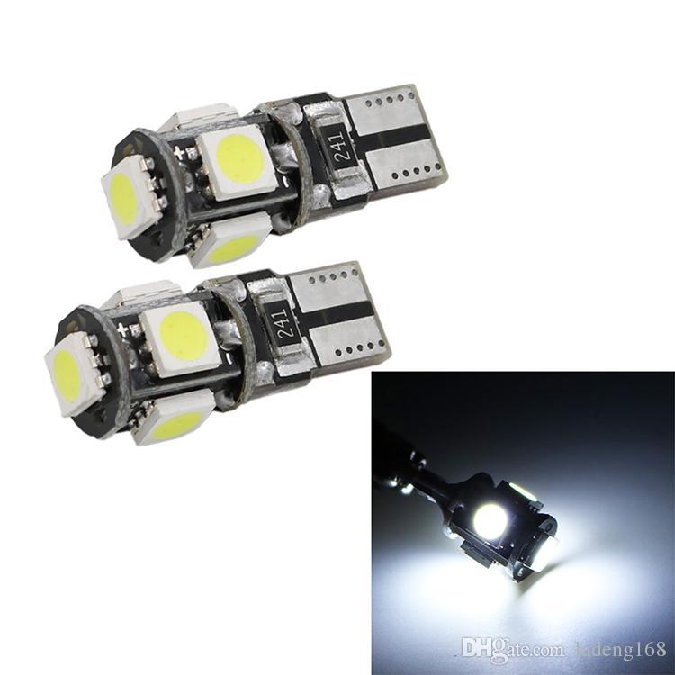 T10 5SMD LED CANBUS 5050 SMD W5W 194 Безошибочная автомобильная лампа Авто Лампа Белый Красный Синий Желтый Цвет CAN BUS Автомобильная лампа