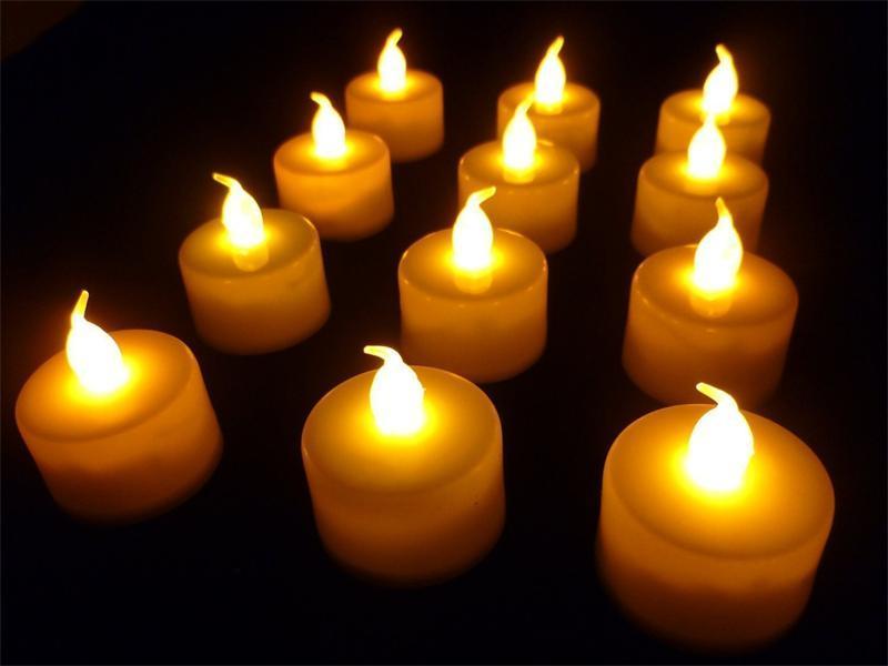 3,5 * 4,5 cm LED Teelicht Teelichter Flameless Licht bunte Dekoration gelb Batteriebetriebene Hochzeit Geburtstag Party Weihnachten