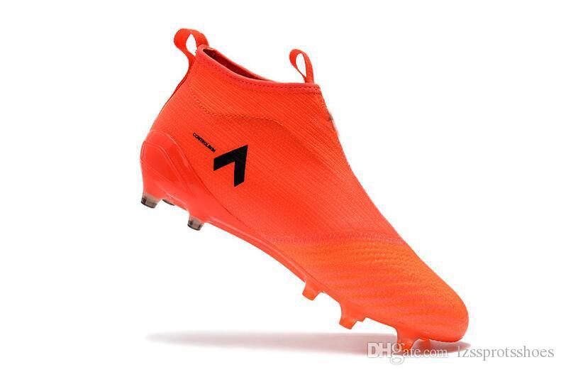 2017 Moda ACE 17+ Purecontrol FG zapatos de fútbol Venta caliente de los hombres zapatos de fútbol 2017 nuevos hombres baratos botas de fútbol envío gratis tamaño 39-45
