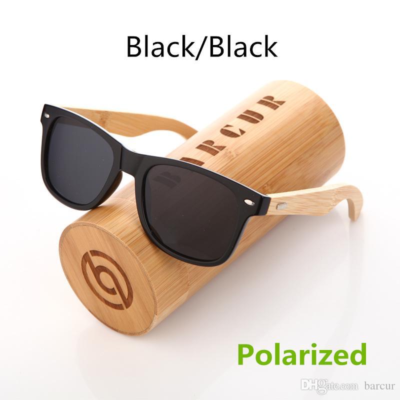 cfbe5e118a495 Compre BARCUR Óculos De Sol De Madeira PC Quadro Handmade Bambu Óculos De  Sol Dos Homens De Madeira De Sol Óculos Para As Mulheres Porized Oculos De  Sol ...