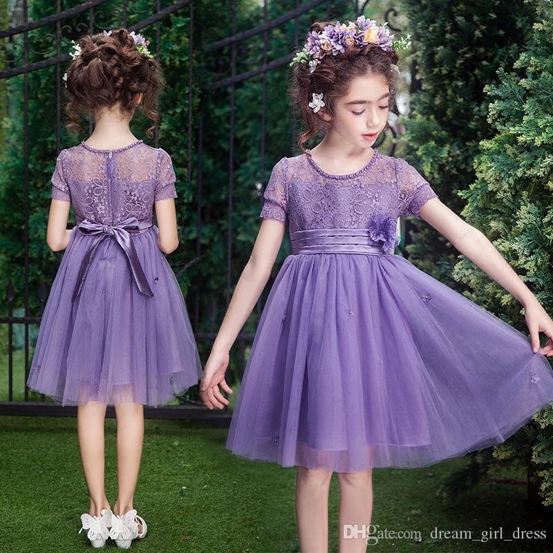 Compre Vestido De Princesa De Las Muchachas Sin Mangas Verano Tamaño ...