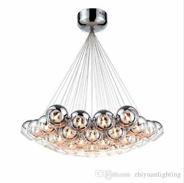 Modern led glass chandeliers led pendant lighting chrome glass modern led glass chandeliers led pendant lighting chrome glass balls chandeliers lighting g4 hanging chandelier lamp fixture bedroom hanging lights ceiling mozeypictures Image collections