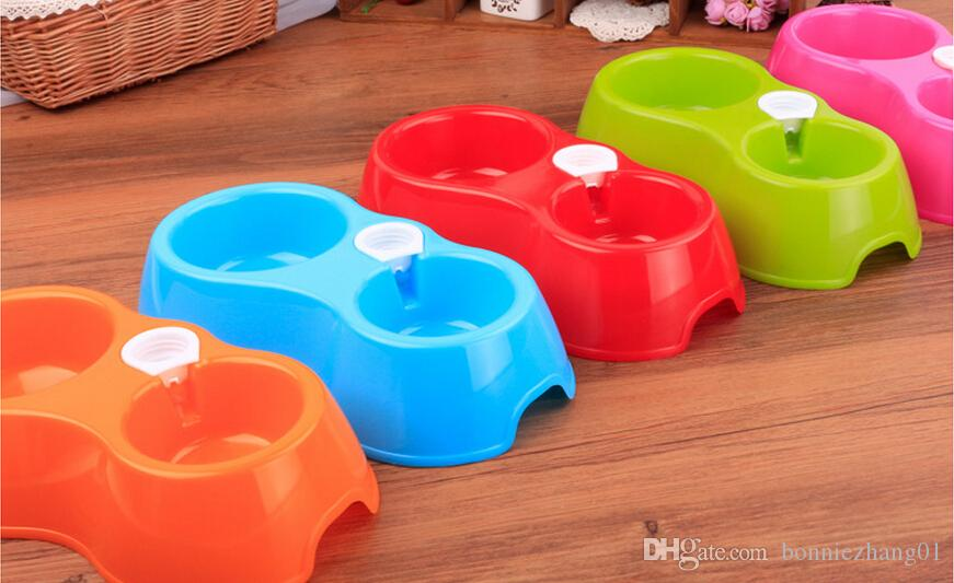 Hot Sale Dual Port Dog Automatic Water Dispenser Feeder Utensils Bowl Cat Drinking Fountain Food Dish Pet Bowl