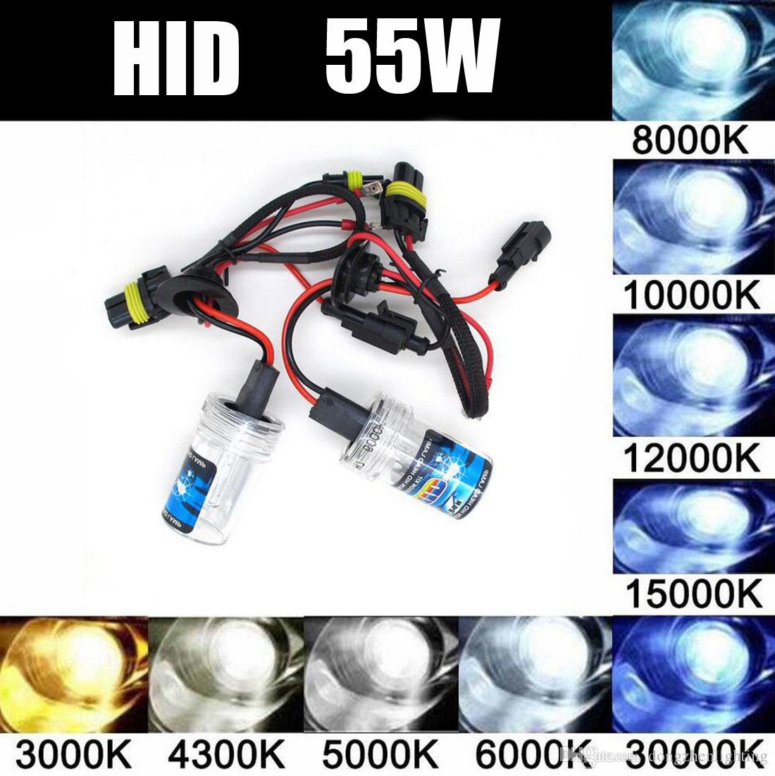 55W HID Headlight Daytime Running Light Xenon Bulbs Fog Lamp H1 H3 H7 H11 H8 H9 H27 9005 9006 880 881 D2R D2S HB1 HB3 HB4 HB5 H4 5202 H16 Led Car
