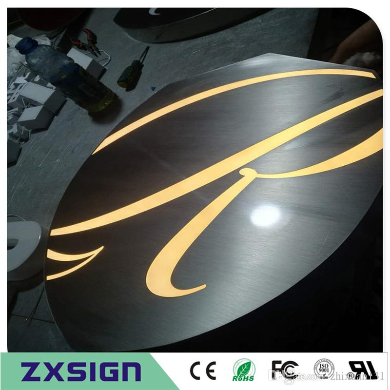 Outdoor illuminated sign letters, frontlit led characters store sign,  restaurant advertising signage lettering, company logo signboard
