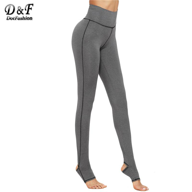 950d2ccecf9b7 2019 Wholesale Dotfashion Warm Pants For Women Fashion Women'S Casual Pants  Grey Marled Knit Topstitch Stirrup Slim Leggings From Caeley, $63.25 |  DHgate.