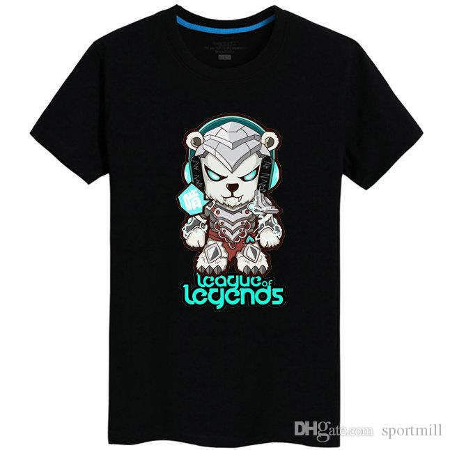 294d69209 Volibear T Shirt Ice Bear People Short Sleeve League Of Legends Tees Lol  Game Clothing Men Cotton Tshirt T Shirts Vintage T Shirts Sale From  Sportmill, ...