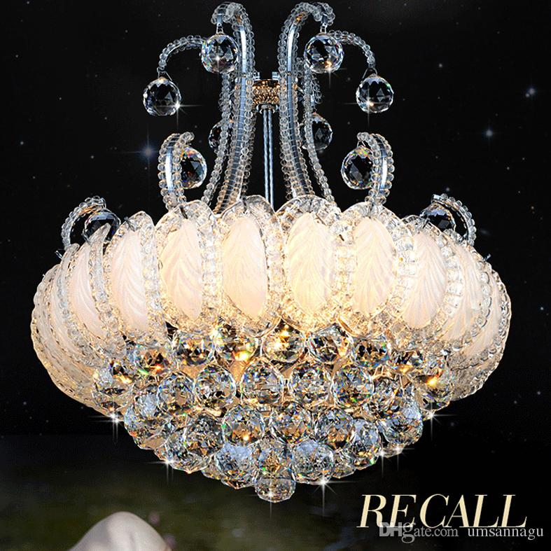 Silver Gold Crystal Chandelier Lighting Fixture Modern Chandeliers