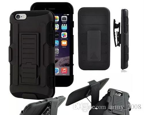 6 S S6 Gelecek Zırh Darbe Hibrid Hard Case Kapak + Kemer Klip Kickstand Combo Için iPhone 4 5 6 s Artı Samsung Galaxy S5 S6 Kenar Note4