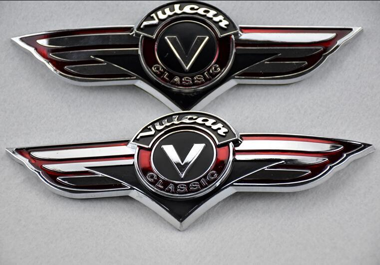 Best quality 3d gas tank sticker emblem badge fuel decals fits for kawasaki vn vulcan classic vn400 vn500 vn800 vn1500 at cheap price online motorcycle