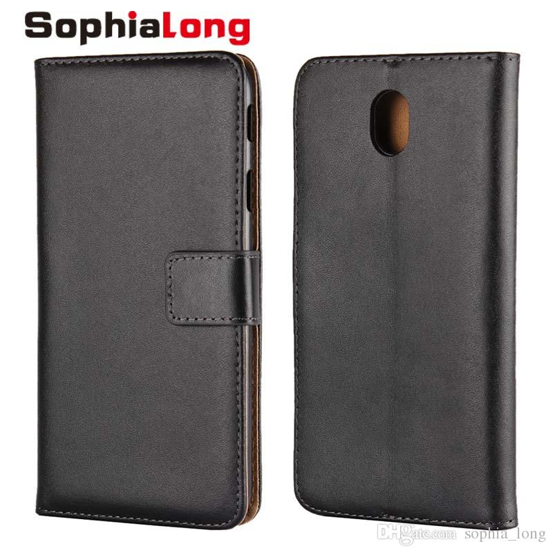 free shipping 72cdf 2f0eb J7 Pro Cases for Samsung Galaxy J7 2017 Case Europe Asia Version for  Samsung J730 Flip Cover Genuine Leather Shell