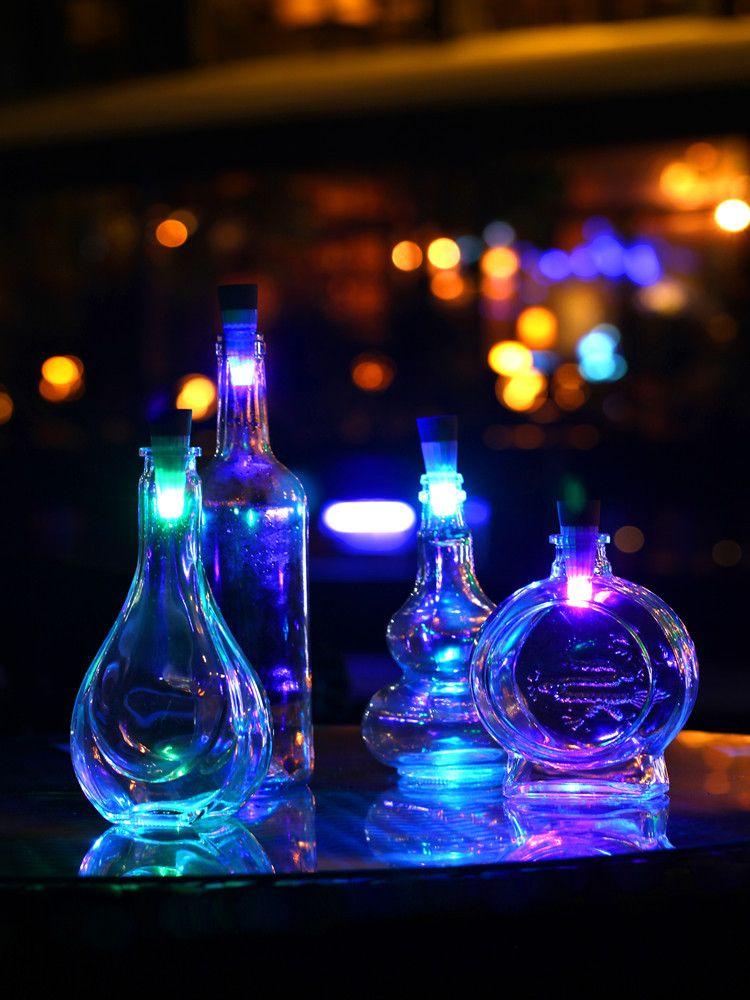 2018 Wholesale Lumiparty Bottle Light Cork Shaped