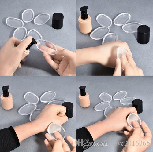 Силиконовые макияжные губки Силиспонге Blender Set Blunding Powder Plad Puff Beauty Foundation Lafex бесплатная губка прозрачный