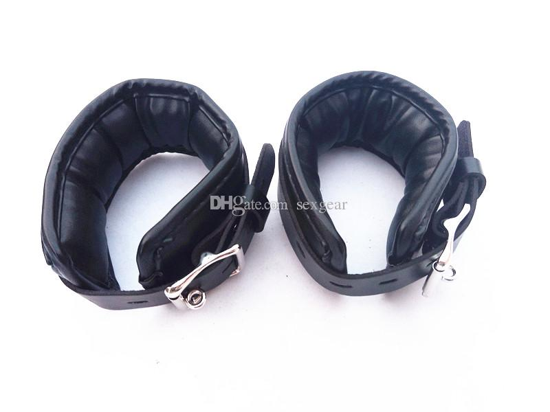 BDSM Collar Fetish Handcuffs Wrist Ankle Cuffs Restraints Torture Bondage Gear Kit Adult Sex Toys for Women HM-KIT3001