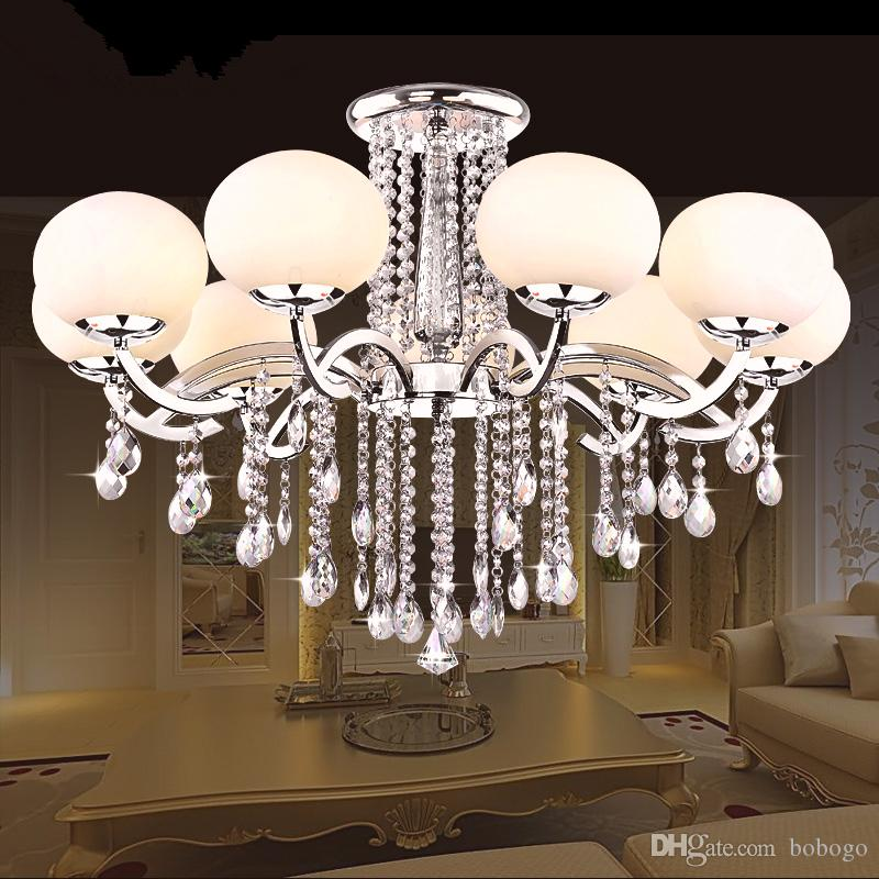 Best Free Led Bulb 9 Shades Glass Crystal Ceiling Light Hotel