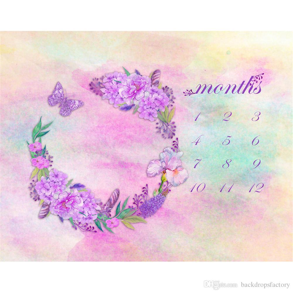 Acquista Digital Painted Acquerello Pastello Rosa Baby Sfondo Floral