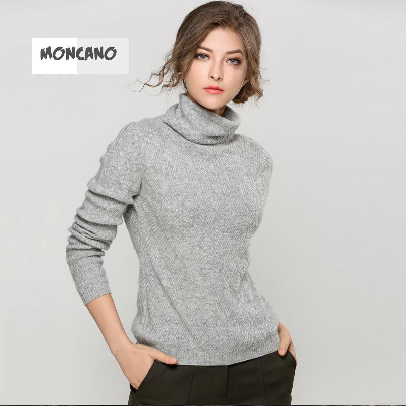 2018 Moncano 100% Pure Cashmere Sweater 2017 New Women Turcleneck ...