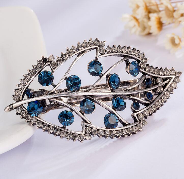 Multi-Style Rhinestone Heart Star Butterfly Leaf Crown Tiara Hair Clip Hairpin Women Bow Barrettes Hair Ornament Рождественский подарок