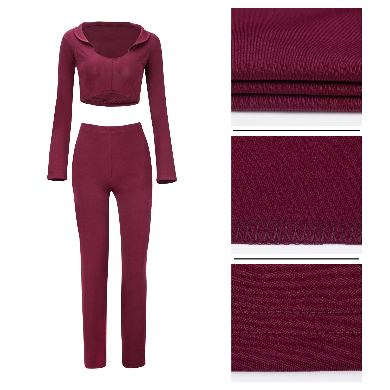 Sexy Women Two Piece Sets Deep V Flare Sleeve Crop Tops + Long Pants Casual Plus Size Bodycon Outfits Jumpsuits