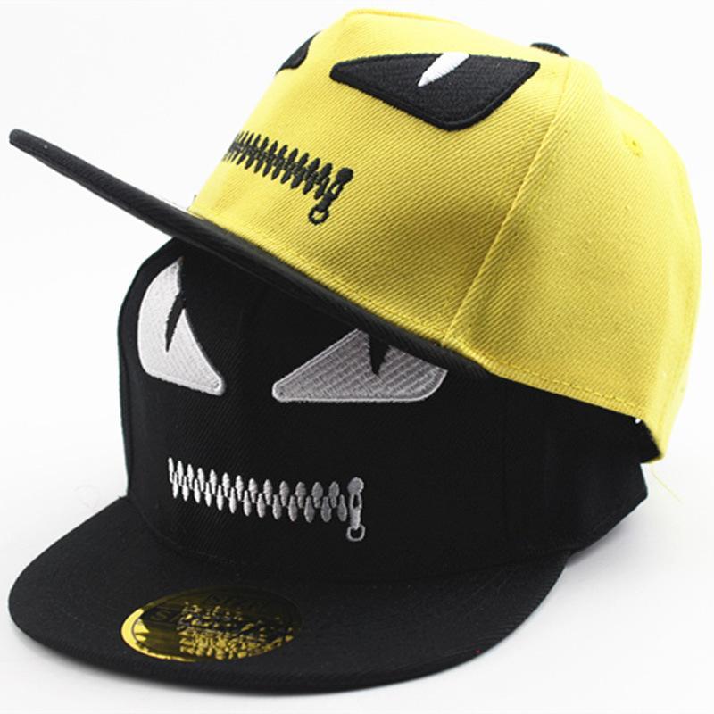 6d7d14d0d38 2017 Adjustable Monster Hat Baseball Cap Devil Kpop Snapback Caps Hip Hop Cap  Kids Monster Denim Gorras Snapbacks For Children Hats For Men Hatland From  ...