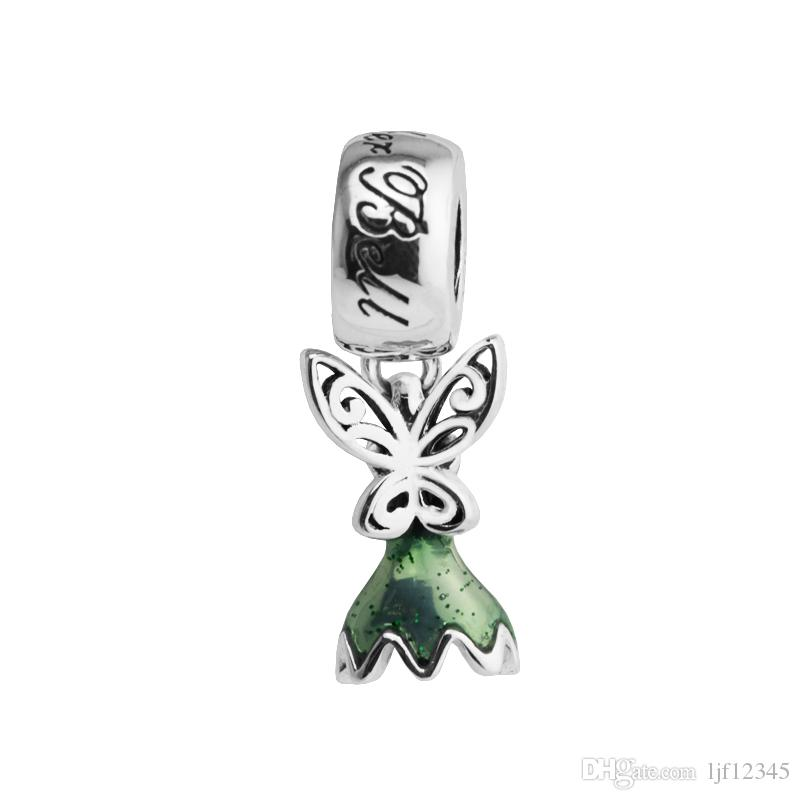 fit pandora bracelet Disny Tinker Bell's Dress charm Peter Pan Elf Beads for woman 925 sterling silver jewelry making bead Fashion beads