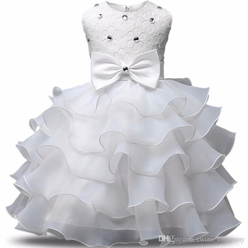 2017 Mode Filles De Mariage Princesse Robe D'hiver Formelle Robe Balle Fleur Enfants Vêtements Enfants Vêtements Partie Fille Robes