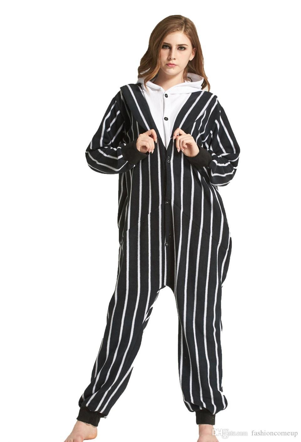 17c56de158 Kigurumi Pajamas Jack Skull Sleepwear Cosplay Costume Unisex Adult ...