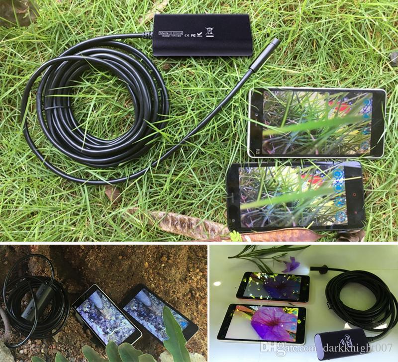 8 ملليمتر 2.0mp ios الروبوت wifi hd المنظار 1 متر / 3 متر / 5 متر / 7 متر / 10 متر كابل لينة كاميرا مصغرة بوريسكوب الأنابيب كاميرا ثعبان كاميرا التفتيش سيارة