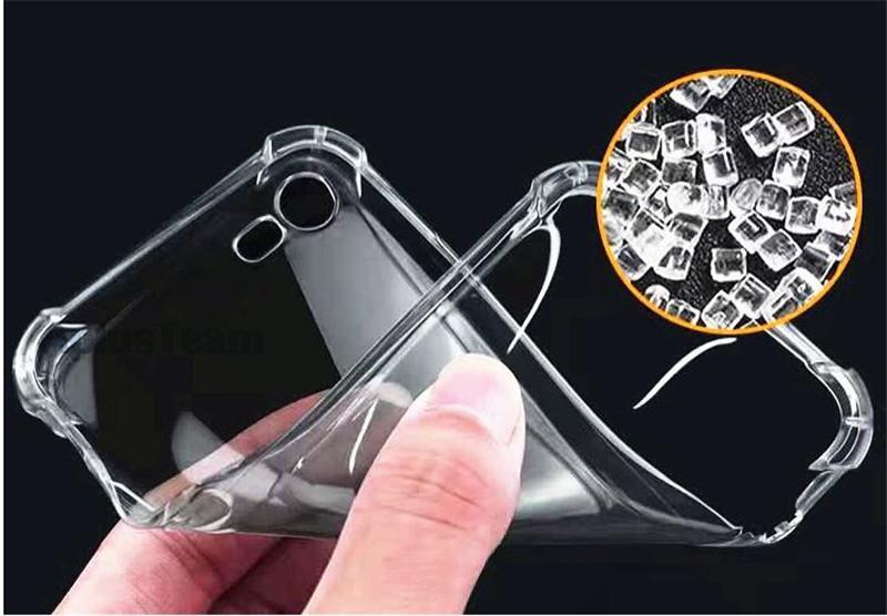 Shockproof de cristal gel gasbag alta limpar case para samsung s8 s8 além de nota 5 ultra-fino transparente macio tpu casos de volta capa para iphone 6s