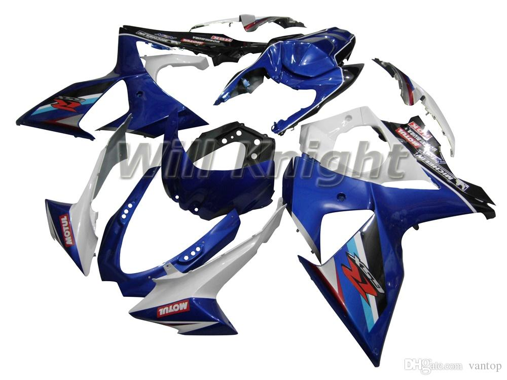 Motorcycle Injection Mold Kit completo de carenado corporal para GSXR1000 ABS Plastic Bodywork Blue White Black YOSHIMURA TEAM