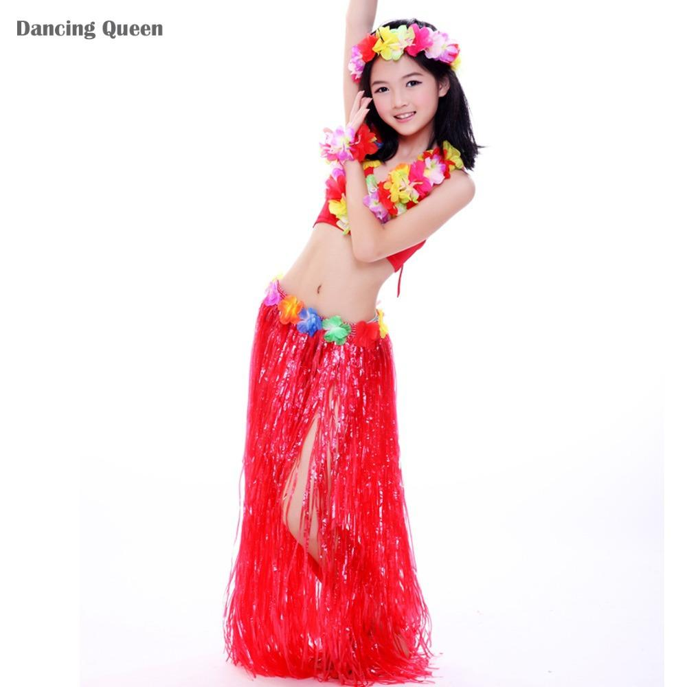 6f7a1722e Kids Bollywood Costume Hawaii Hula Dance Children Dancewear Belly ...