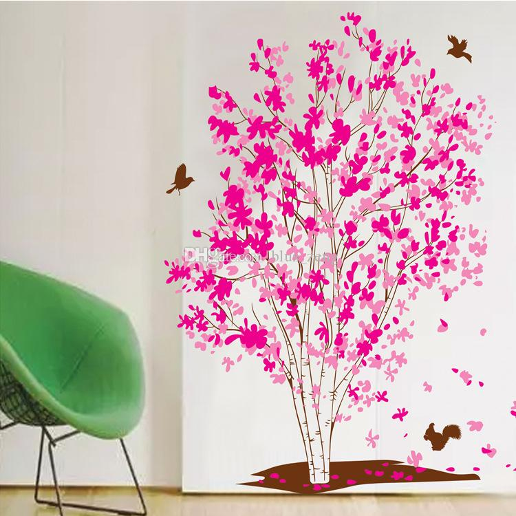 60*90cm Pink Dream Tree Wall Stickers Diy Art Decal Removeable Wallpaper  Mural Sticker Xy1161 Wall Art And Decor Stickers Wall Art And Stickers From  ... Part 83