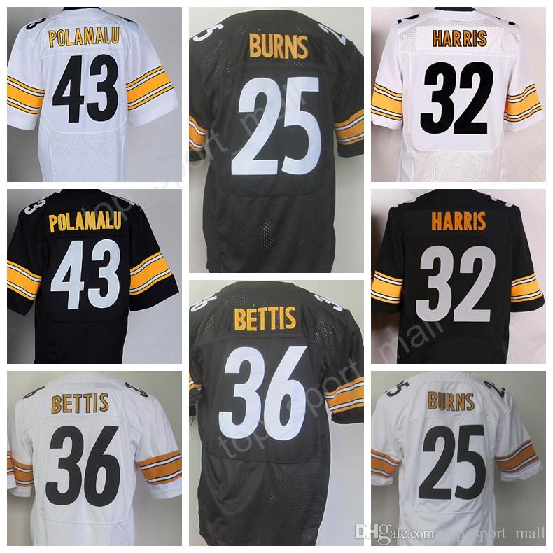 2017 hottest 25 artie burns jersey men black white 97 cameron heyward 32 franco harris 43 mens nike
