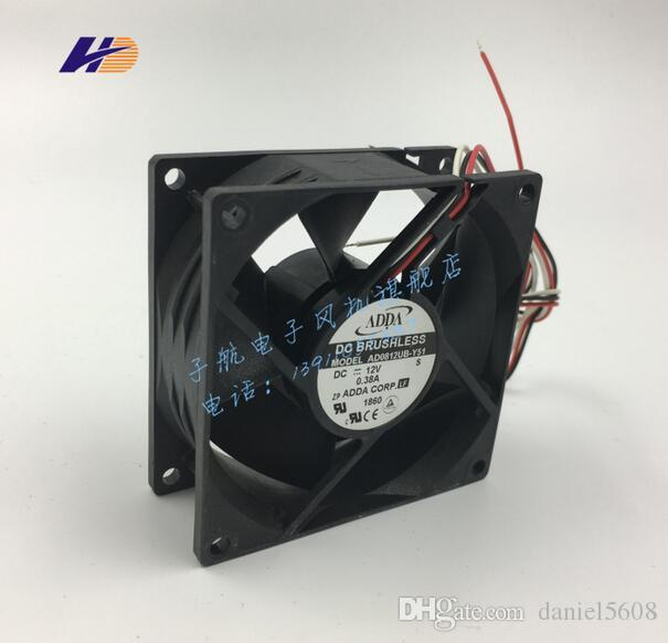 Original ADDA AD0812UB-Y51 8032 12V 0.38A 80*80*32MM three wire tachometer fan