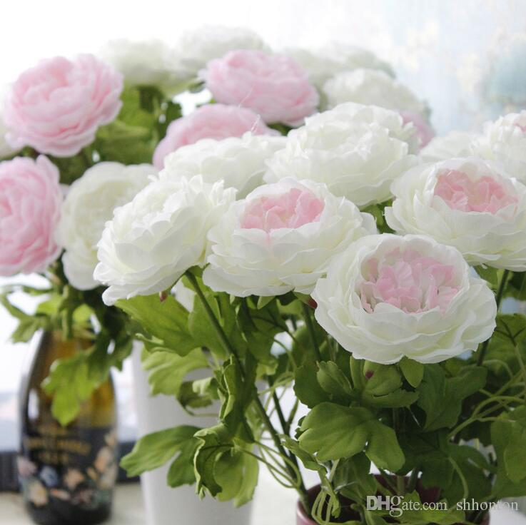 고급 인공 모란 꽃 좋은 품질 독방 지점 모란 색상의 다양한 명소 공급 도매 가격 무료 배송 HR021