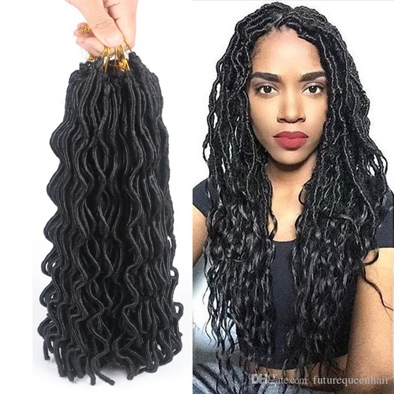 24 Curly Faux Locs 24 Roots Synthetic Hair Wavy Faux Locs Curly ...