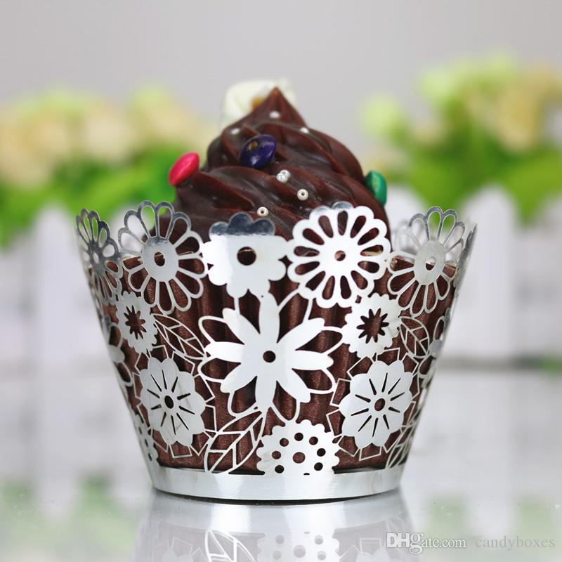 Cherish Halloween Lace Laser Cupcake Paper Cups Thanksgiving Easter Bridal Shower Party Muffin Cupcake Paper Free Ship