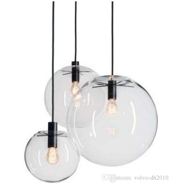 Modern Nordic Lustre Globe Pendant Lights Glass Ball Lamp Shade ...