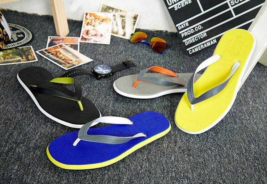 Летние новые персонажи флип мужской противоскольжения плоские с пляжной обуви случайные плоские мужские тапочки прилив
